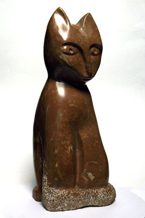 """Pretentious Cat"", African Kisii Stone"